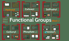 Functional Groups, Block 2