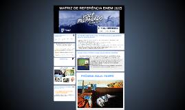 MATRIZ DE REFERÊNCIA ENEM 2015
