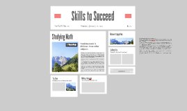 Skills to Succeed