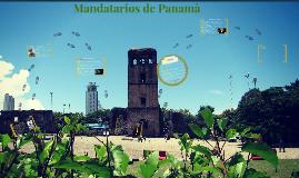 Mandatarios de Panamà
