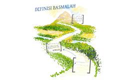 DEFINISI BASMALAH