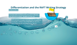 Copy of Differentiation and the RAFT Writing Strategy