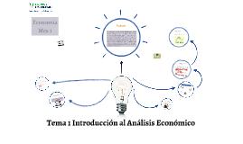 Tema 1 Introducción al Análisis Económico