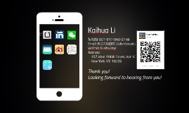 Kaihua Li Application
