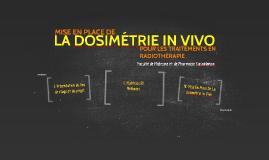 La Dosimétrie in vivo en Radiothérapie