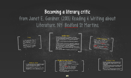 Becoming a literary critic