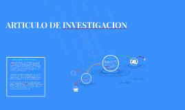 ARTICULO DE INVESTIGACION