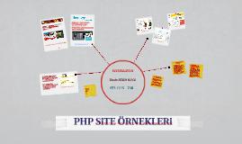 PHP SiTE ÖRNEKLERi