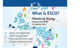 What is ESCO (Meeting with DG HR)