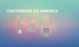 CONTINENTE DE AMERICA