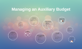 Managing an Auxiliary Budget