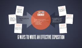 6 WAYS TO WRITE AN EFFECTIVE EXPOSITION