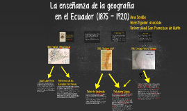 Copy of La enseñanza de la geografía