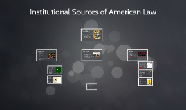 Institutional Sources of American Law
