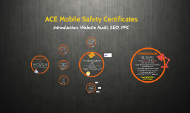 ACE Mobile Safety Certificates