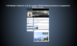 7.02 Modern Warfare And It's Legacy, World History (Honors) Assignment