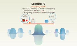 Lecture 12: Dallaire