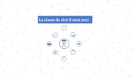 La classe de 1ère S 2016 2017