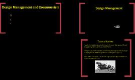 Design Management and Consumerism