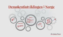 Den demokratisk utviklingen til Norge