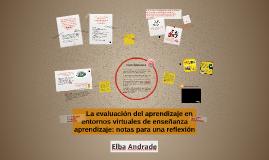 La evaluación del aprendizaje en entornos virtuales de