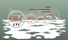 Organos  centralizados,desentralizados y paraestatales