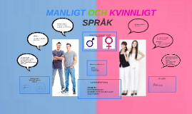 manligt kvinnligt språk