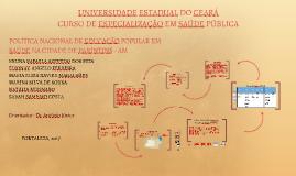 POLÍTICA NACIONAL DE EDUCAÇÃO POPULAR EM SAÚDE NA CIDADE DE