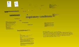 respiratory conditions 1