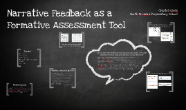 Copy of Narrative Feedback as a Formative Assessment Tool
