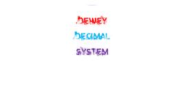 Library - Dewey Decimal System 3rd - 6th grade