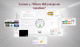 Lesson 4: Where did you go on vacation?