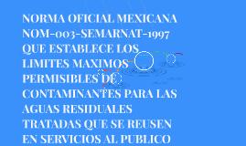 NORMA OFICIAL MEXICANA NOM-003-SEMARNAT-1997 QUE ESTABLECE L
