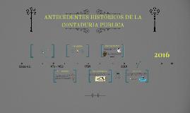 ANTECEDENTES HISTÓRICOS DE LA CONTADURIA PUBLICA