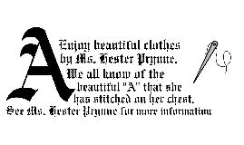 The Scarlett Letter Advertisement