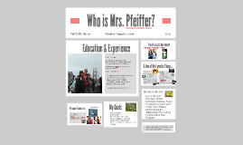 Who is Mrs. Pfeiffer