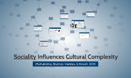 Sociality Influences Cultural Complexity