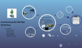 Contaminacion Del Mar Antartico