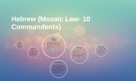 Hebrew (Mosaic Law- 10 Commandents)