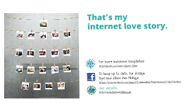 Internet love story Prezi template