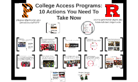 College Access Programs:10 Actions You Need To Take Now