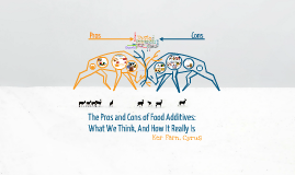 Pros/Cons of Food Additives
