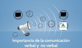 Importancia de la comunicación verbal y  no verbal