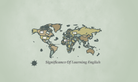 Significance Of Learning English