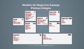 Modelo de Negocios Canvas - Palmas Integra