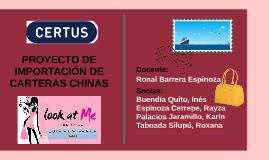 PROYECTO DE IMPORTACIÓN DE CARTERAS CHINAS