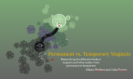 Permanent vs. Temporary Magnets
