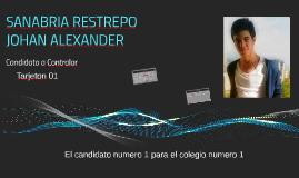 SANABRIA RESTREPO JOHAN ALEXANDER