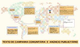 TEXTO DE CAMPANHA COMUNITÁRIA