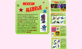 Mexican Alebrije - mixed media art project